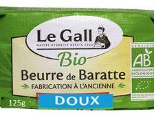 LE GALL - BEURRE BARATTE BIO DOUX MOULE 125 g